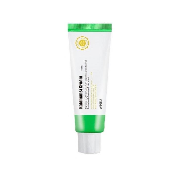 Crema faciala pentru luminozitate cu extract de Kalamansi, 50 ml, Apieu