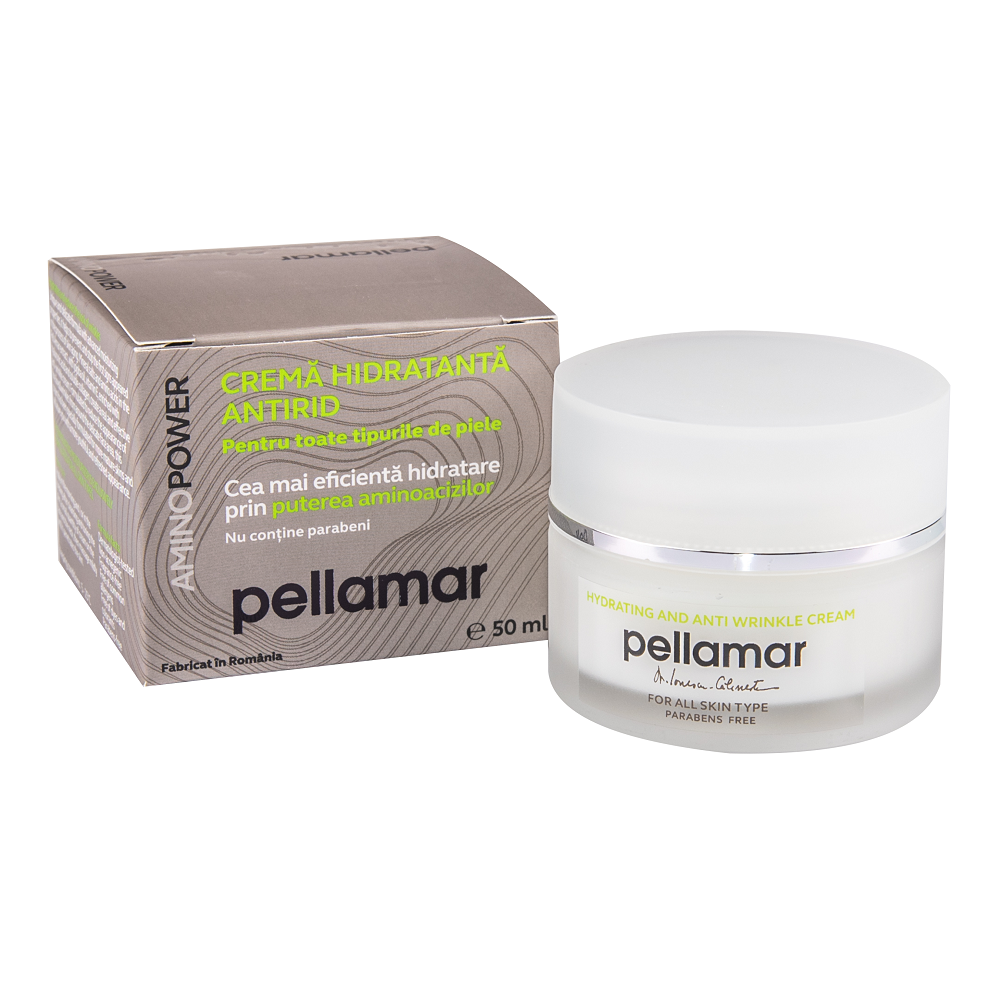 Crema hidratanta antirid pentru toate tipurile de piele AminoPower, 50 ml, Pellamar