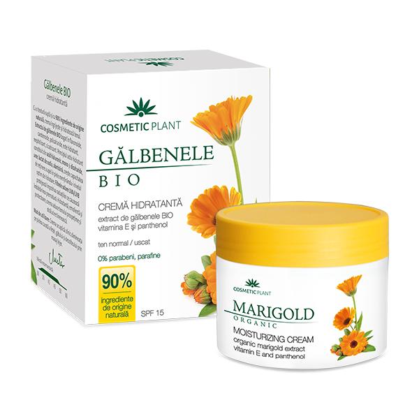 Crema hidratanta cu extract de galbenele Bio cu vitamina E si pantenol, 50 ml, Cosmetic Plant