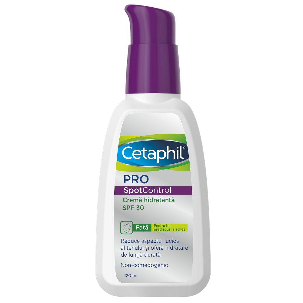 Crema hidratanta cu SPF 30 Cetaphil PRO SpotControl, 120 ml, Galderma