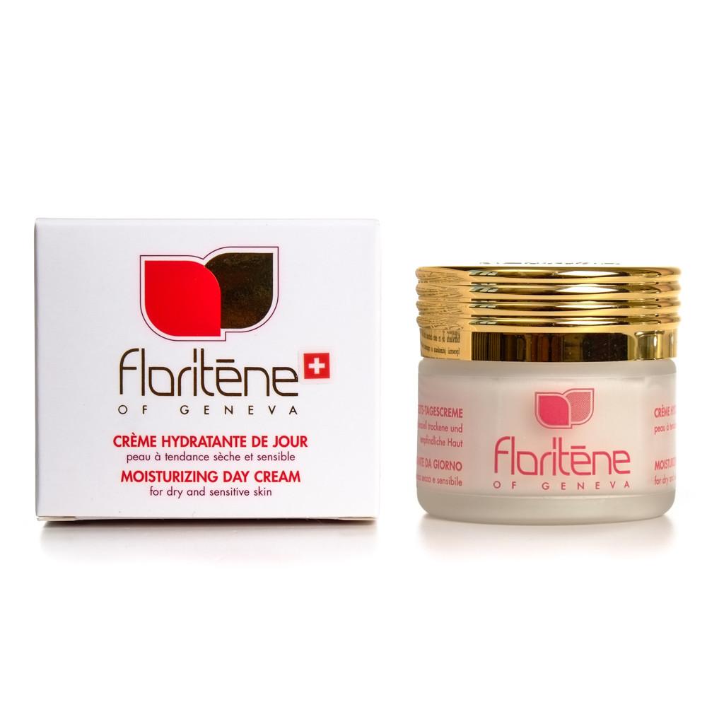 Crema hidratanta de zi pentru ten uscat-sensibil, 50 ml, Floritene