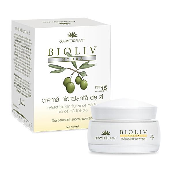 Crema hidratanta de zi SPF 15 Bioliv Hydra, 50 ml, Cosmetic Plant