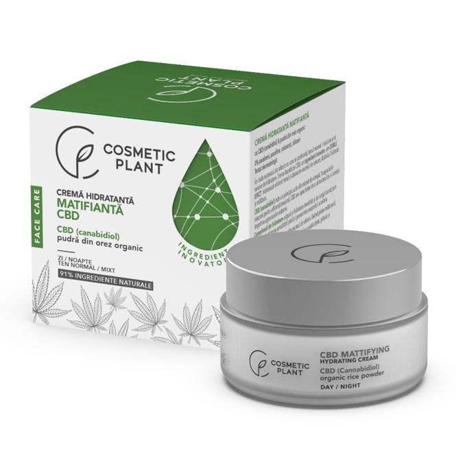 Crema hidratanta matifianta Face Care, 50 ml, Cosmetic Plant