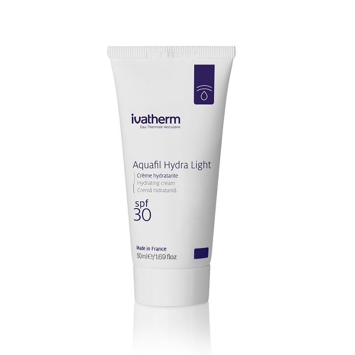 Crema hidratanta pentru fata cu SPF 30 Aquafil Hydra Light, 50 ml, Ivatherm