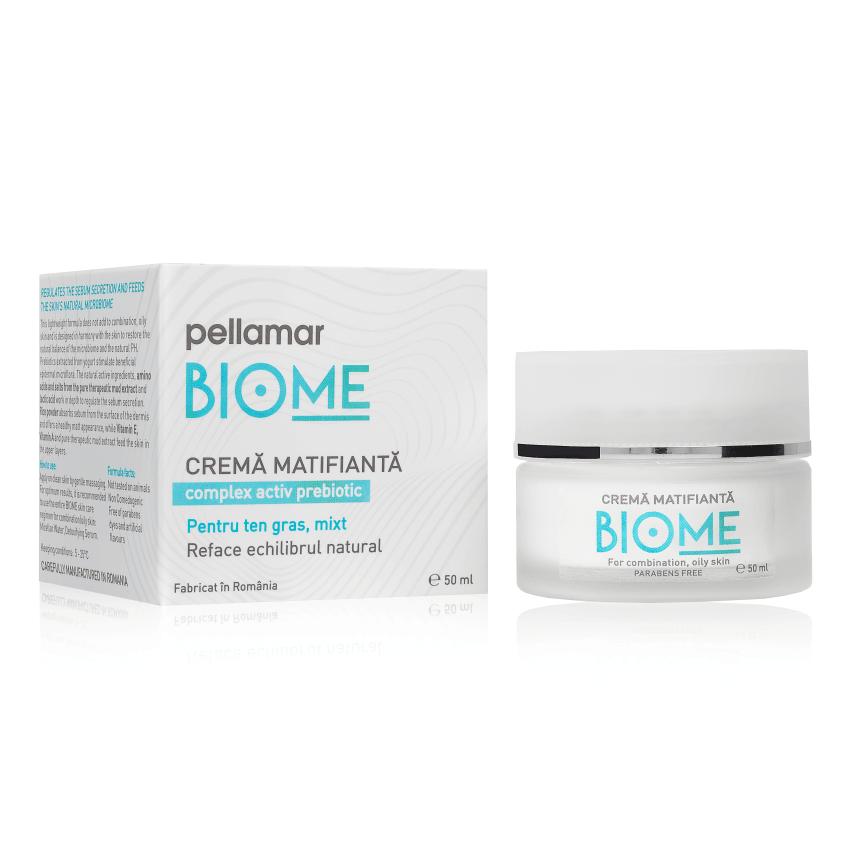 Cremă matifiantă pentru ten gras-mixt Biome, 50 ml, Pellamar