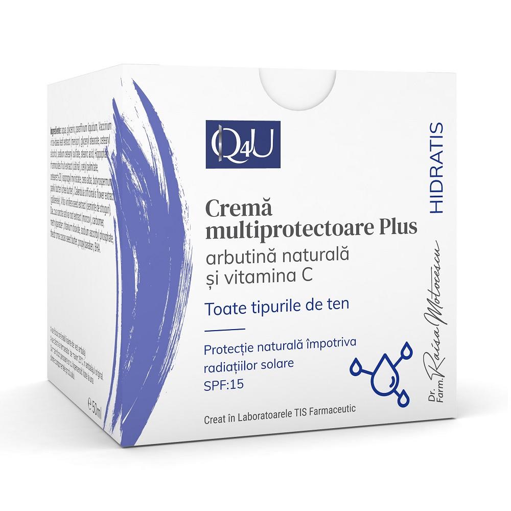 Cremă multiprotectoare Plus Hidratis Q4U, 50 ml, Tis Farmaceutic