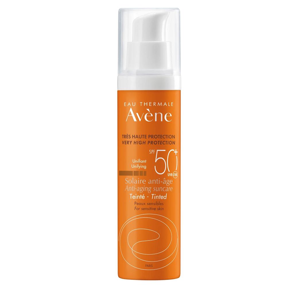 Crema nuantatoare anti-imbatranire pentru protectie solara SPF 50+, 50 ml,  Avene