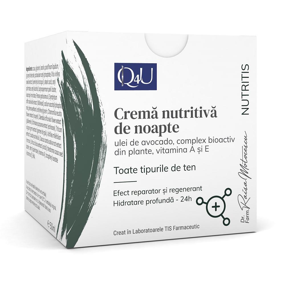 Cremă nutritivă pentru noapte Nutritis Q4U, 50 ml, Tis Farmaceutic