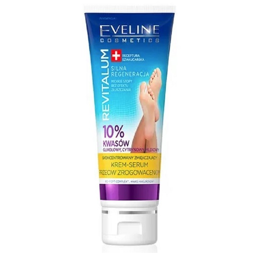 Crema pentru picioare cu 10% acid glicolic Revitalum, 75 ml, Eveline Cosmetics