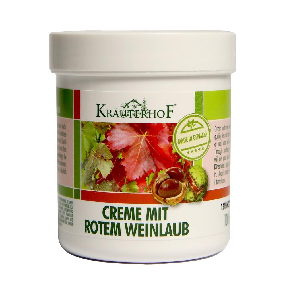 Crema pentru picioare cu castane si vita de vie, 100 ml, Krauterhof