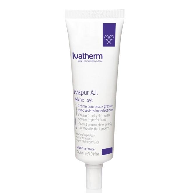Crema pentru piele grasa cu imperfectiuni severe Ivapur A.I Akne-Syt, 30 ml, Ivatherm