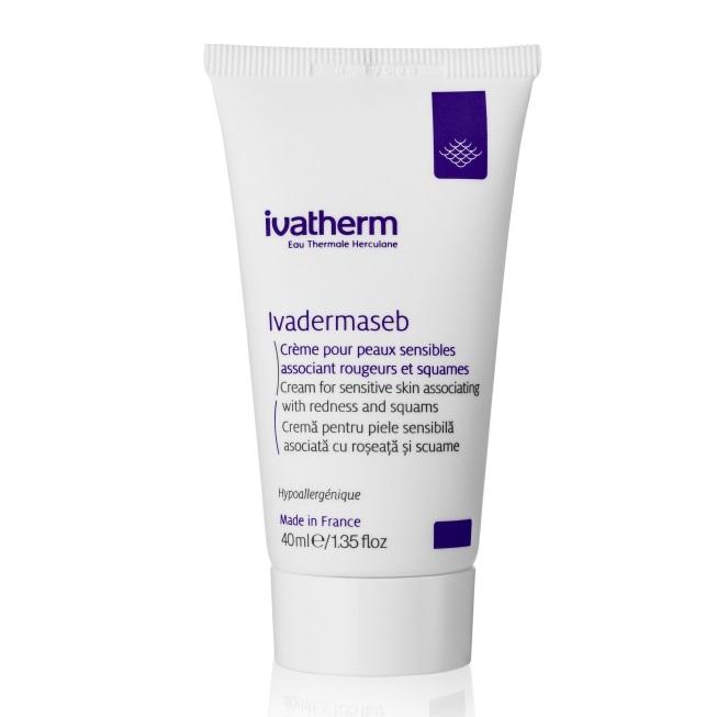 Cremă pentru piele sensibilă asociată cu roșeață și scuame Ivadermaseb, 40 ml, Ivatherm