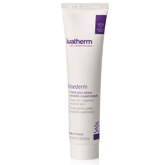 Cremă pentru piele sensibilă cuperozică SPF 30 Rosederm, 40 ml, Ivatherm