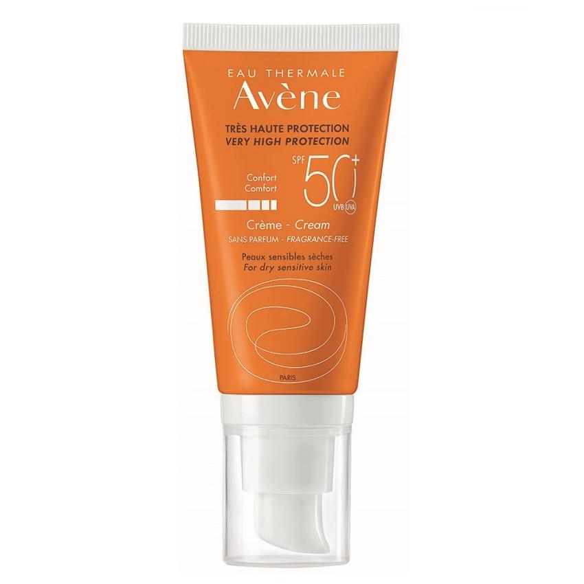Crema pentru protectie solara fara parfum SPF 50+, 50 ml, Avene