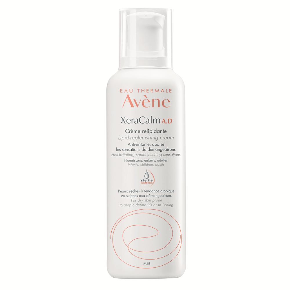 Crema relipidanta pentru pielea uscata predispusa la dermatita atopica sau prurit XeraCalm A.D., 400 ml, Avene