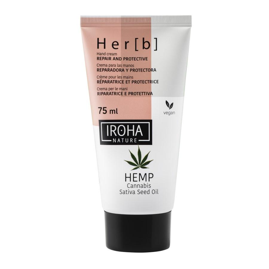 Crema reparatoare si protectoare pentru maini Herb, 75 ml, Iroha