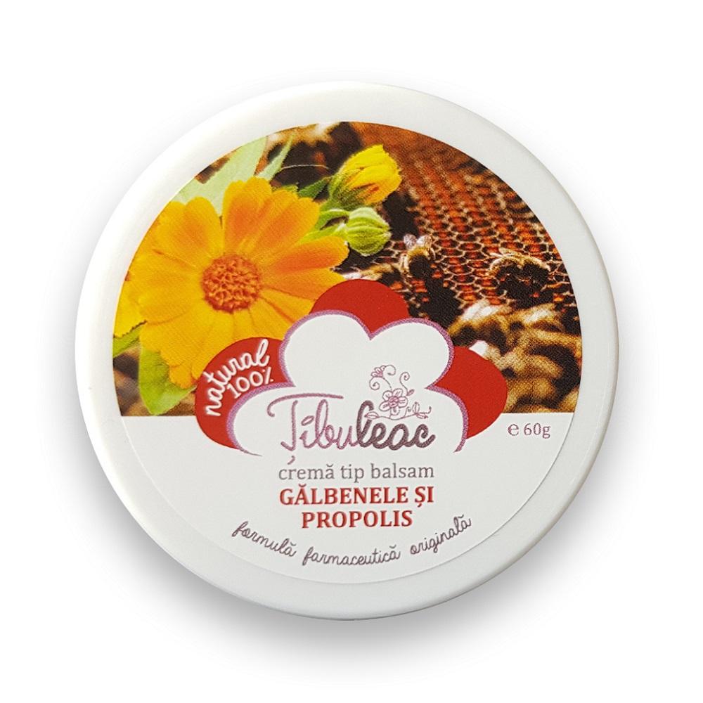 Crema tip balsam galbenele si propolis, 60 g, Tibuleac Plant