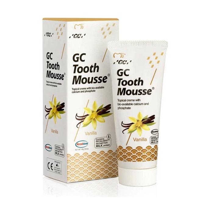 Crema topica pe baza de apa cu aroma de vanilie Tooth Mousse, 40 g, GC