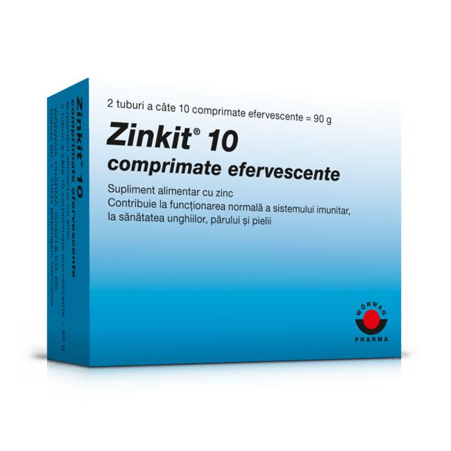 Zinkit 10, 20 comprimate efervescente, Worwag Pharma