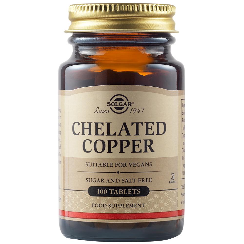 Cupru chelat 2.5 mg, 100 tablete, Solgar