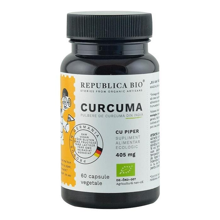 Curcuma 405 mg, 60 capsule, Republica Bio