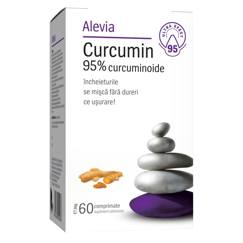 Curcumin 95% curcuminoide, 60 comprimate, Alevia