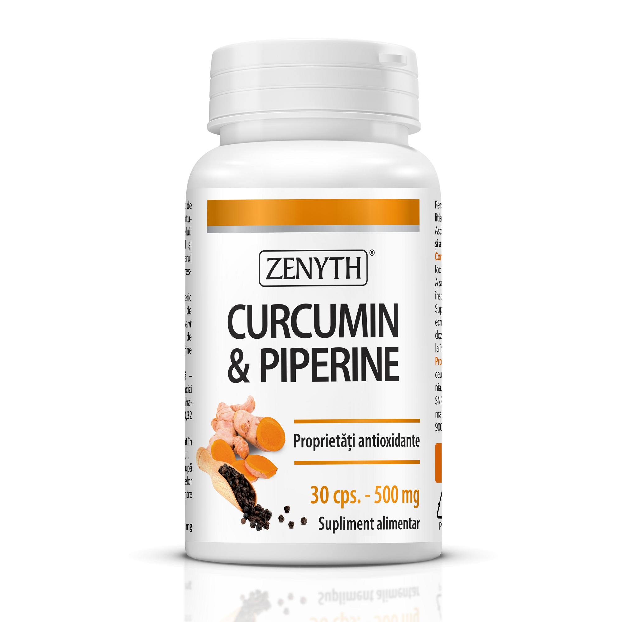 Curcumin & Piperine, 30 capsule, Zenyth