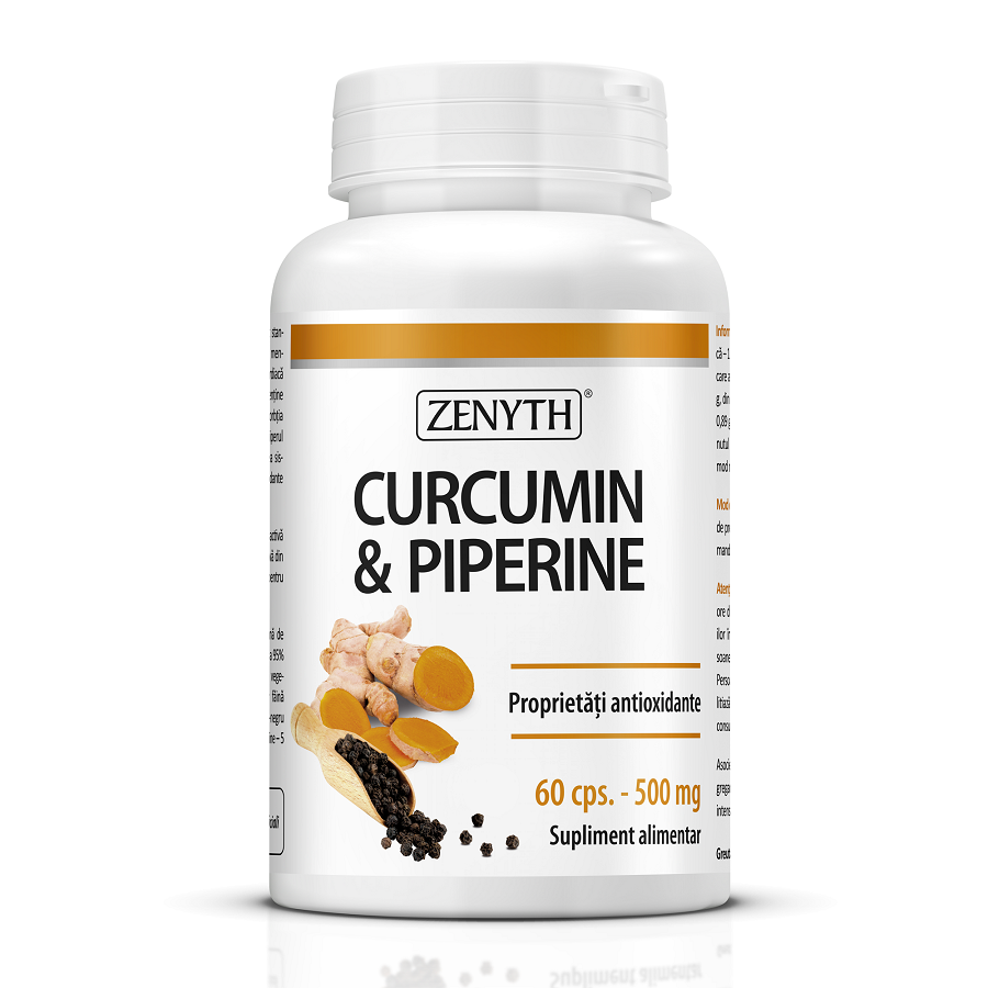 Curcumin & Piperine, 60 capsule, Zenyth