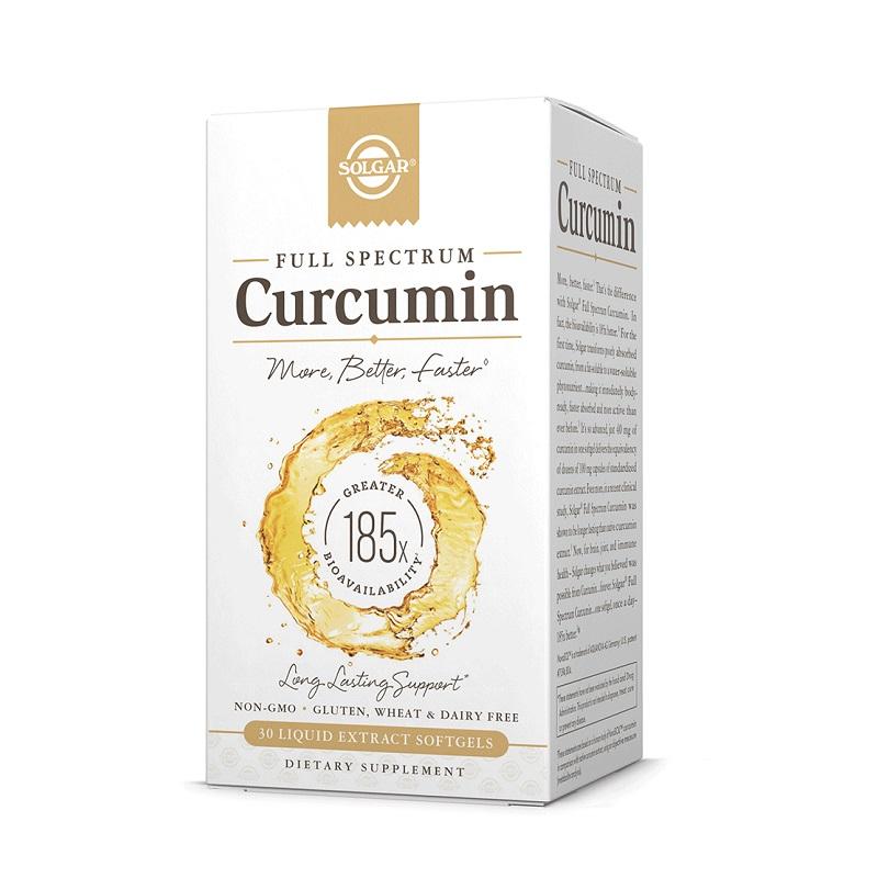Curcumin spectru complet, 30 capsule, Solgar