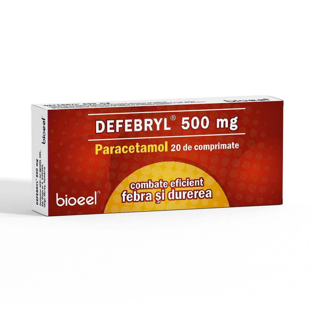 Defebryl 500 mg, 20 comprimate, Bioeel