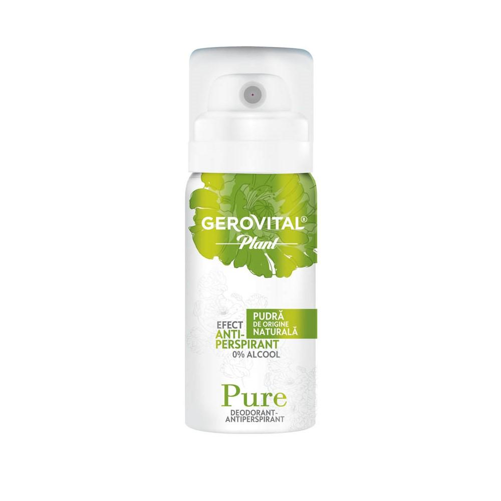 Deodorant Antiperspirant Pure Gerovital Plant, 40 ml, Farmec