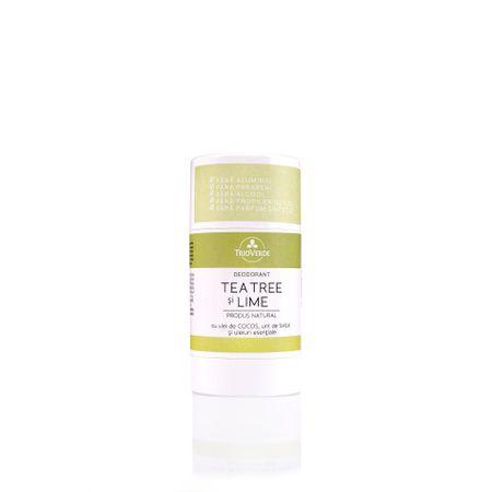 Deodorant cu tea tree și lime, 60g, Trio Verde