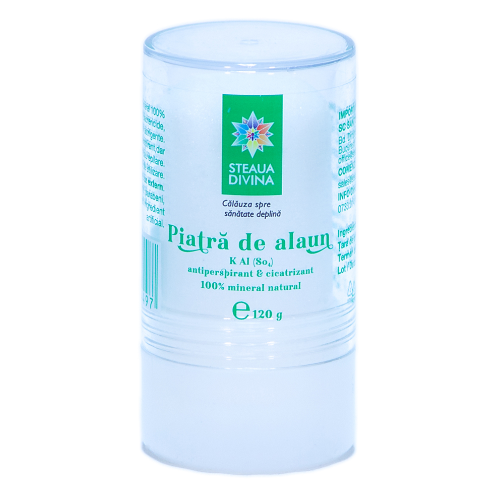 Deodorant Piatră de Alaun, 120g, Steaua Divina