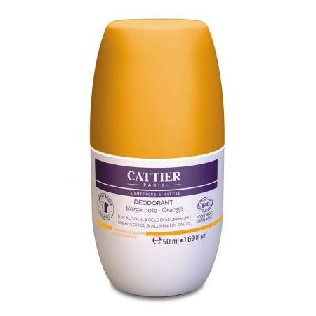 Deodorant roll-on bio cu Portocale si Bergamota, 50 ml, Cattier