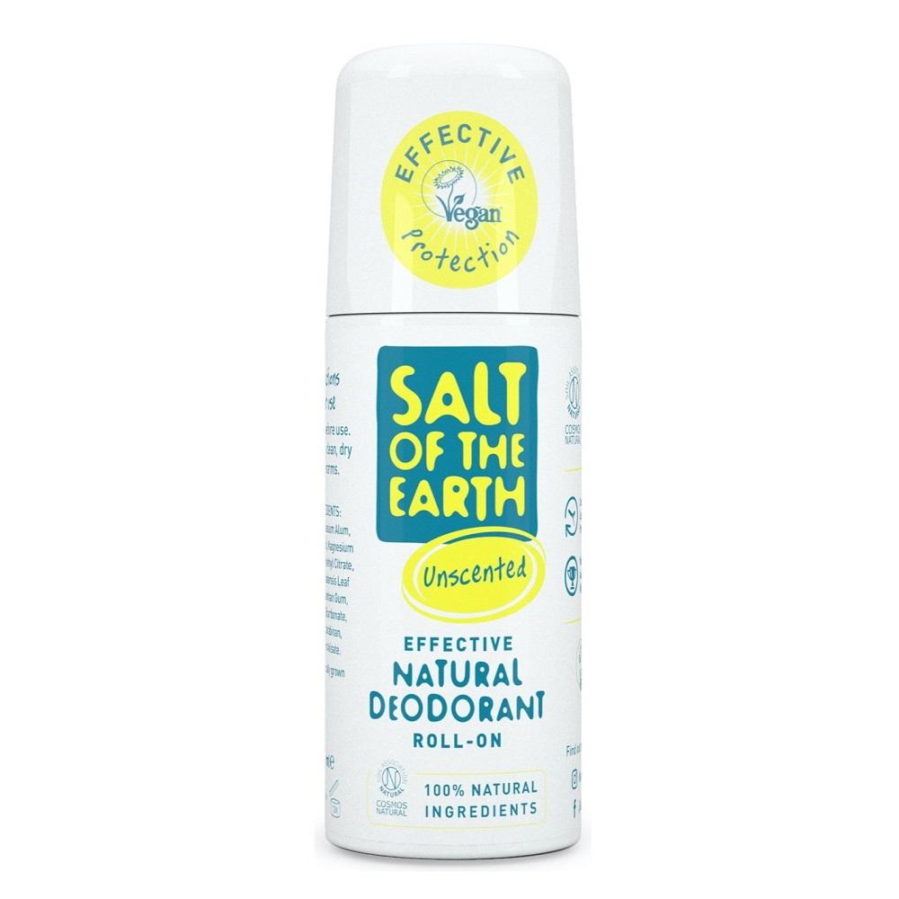 Deodorant roll-on natural fără miros Salt Of The Earth, 75 ml, Crystal Spring