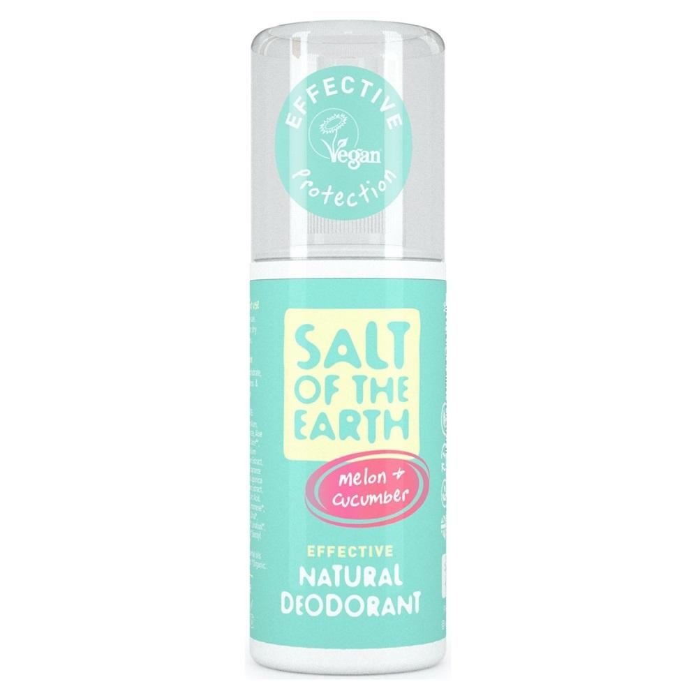 Deodorant spray cu pepene și castravete Salt Of The Earth Pure Aura, 100 ml, Crystal Spring