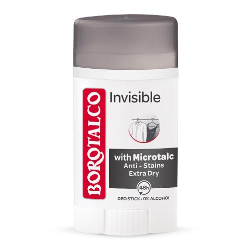 Deodorant stick Invisible, 40 ml, Borotalco
