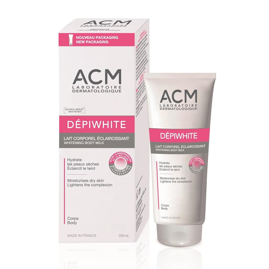 Lapte de corp cu efect de albire Depiwhite, 200 ml, Acm
