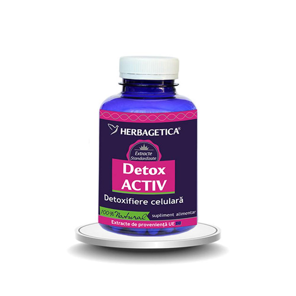 Detox Activ, 120 capsule, Herbagetica