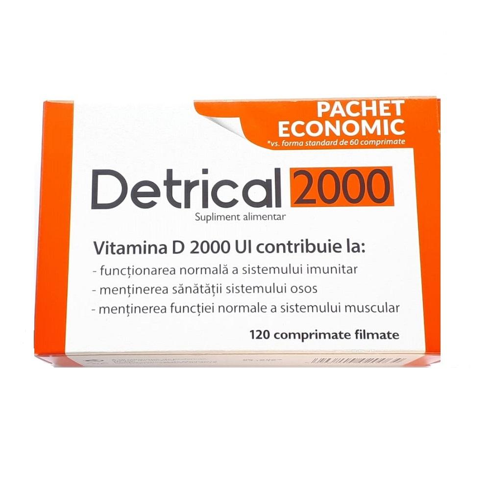 Detrical Vitamina D 2000UI, 120 comprimate filmate, Natur Produkt