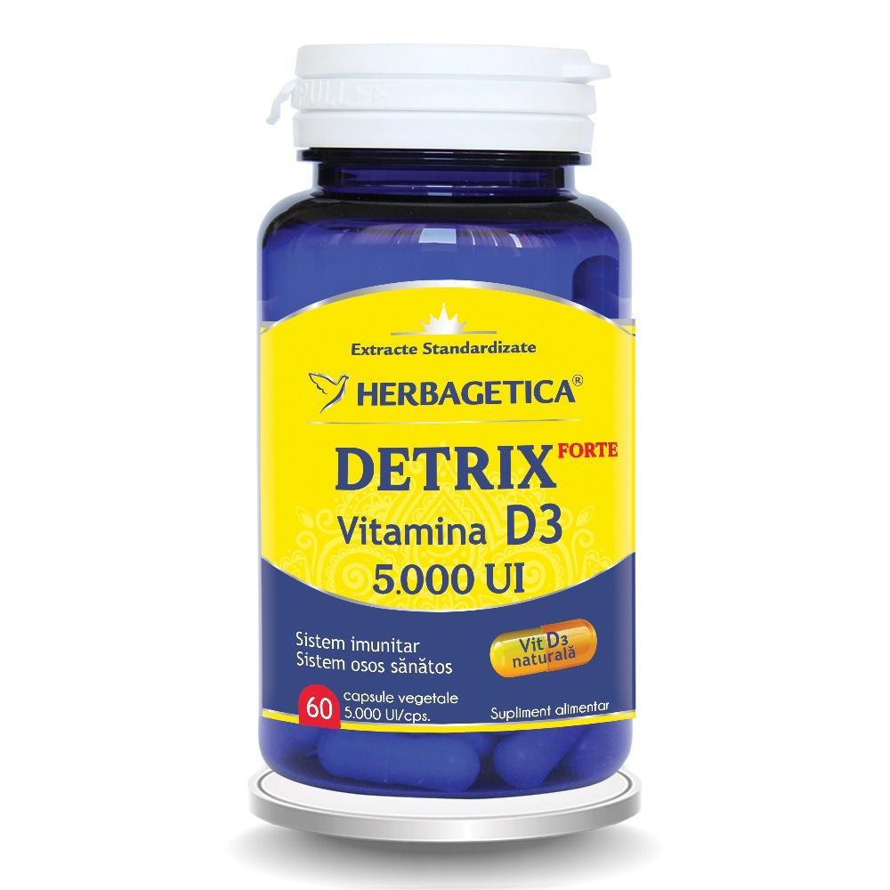 Detrix Forte Vitamina D3 5000 UI, 60 capsule, Herbagetica