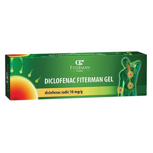 Diclofenac 10 mg/g, gel, 100 g, Fiterman