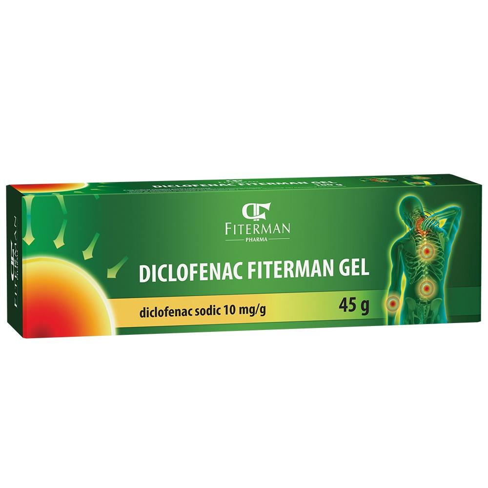 Diclofenac 10 mg/g, gel, 45 g, Fiterman