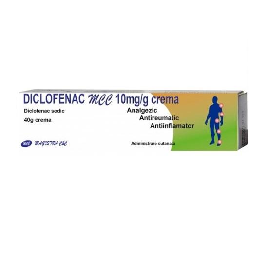 Diclofenac MCC crema 10mg/g, 40 g, Magistra