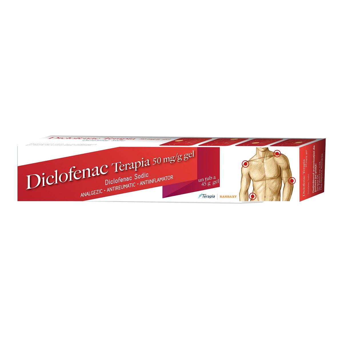 Diclofenac gel 5%, 45 g, Terapia