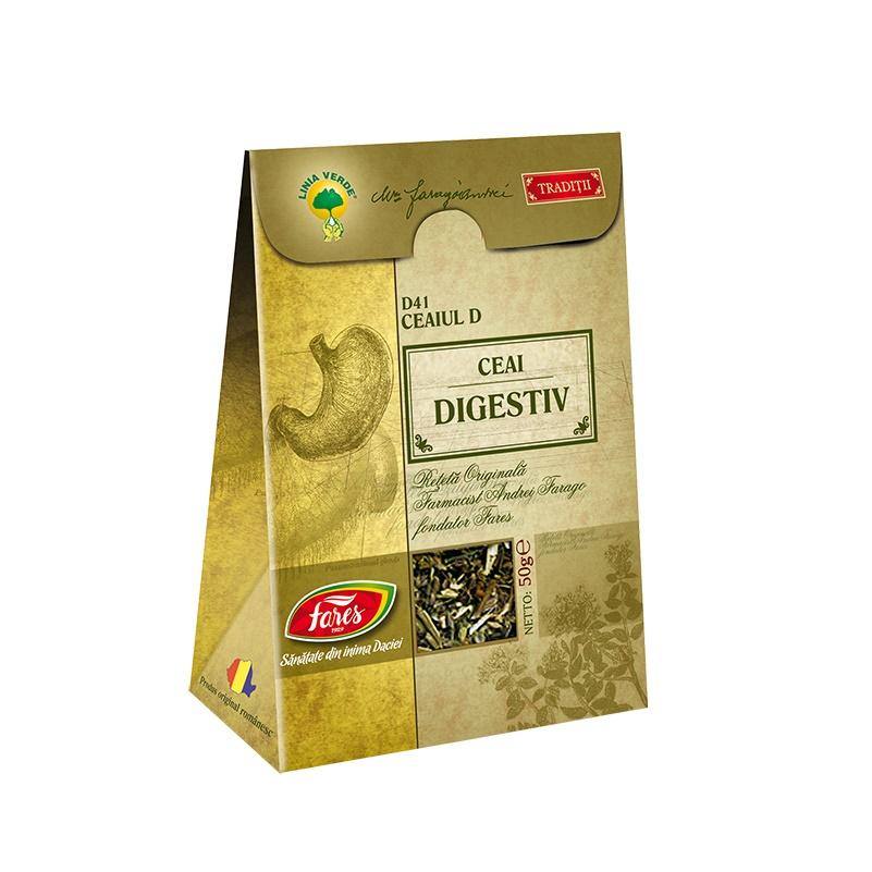 Ceai Digestiv, D41, 50 g, Fares