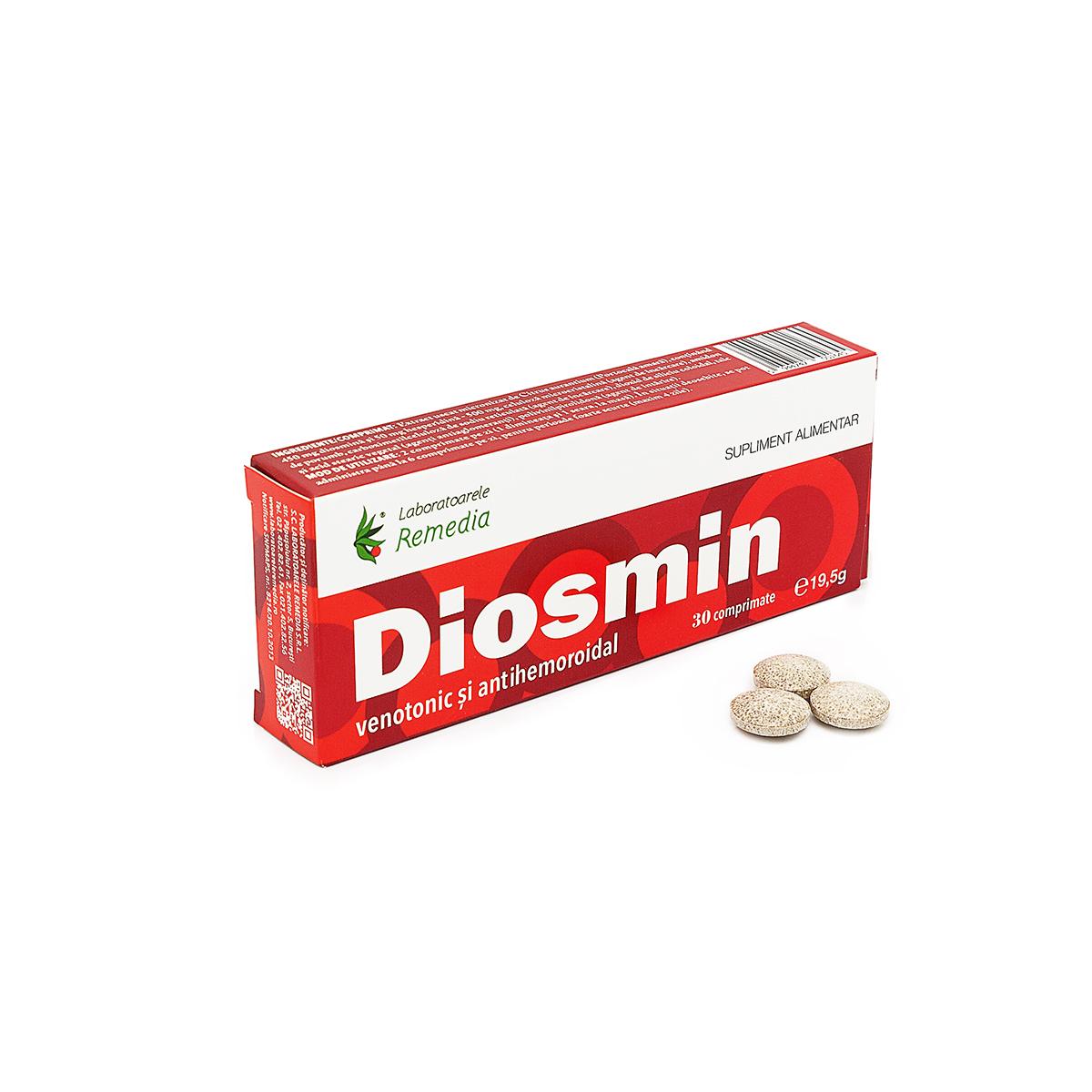 Diosmin extract standardizat de citrus aurantium, 30 comprimate, Remedia