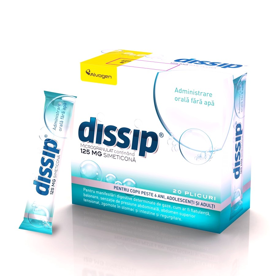 Dissip 125 mg, 20 plicuri, Alvogen