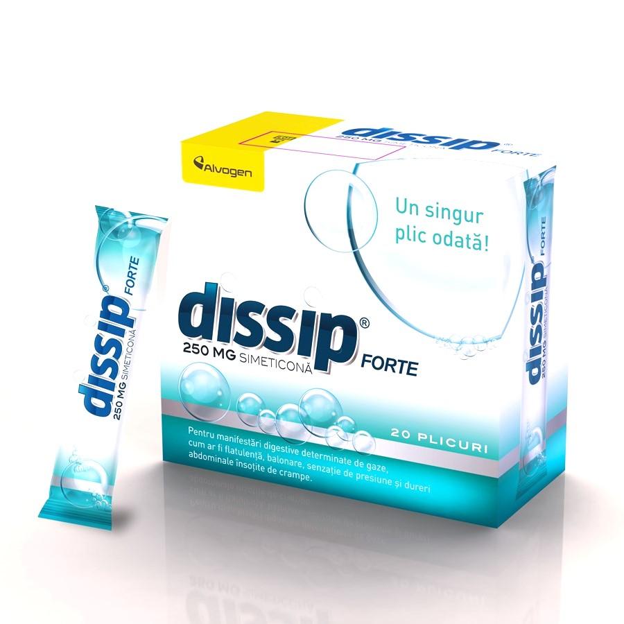 Dissip Forte 250 mg, 20 plicuri, Alvogen
