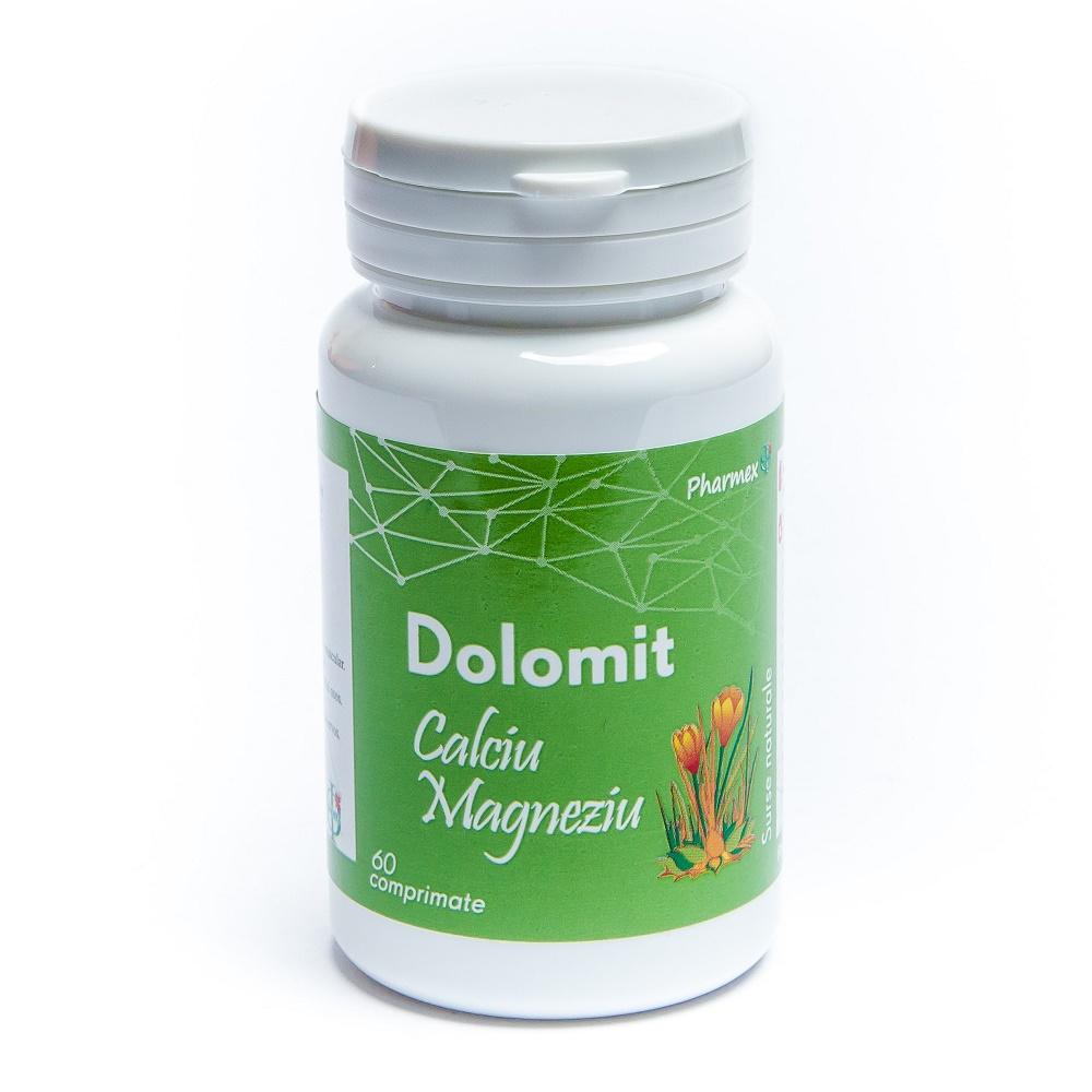 Dolomit Calciu si Magneziu, 60 comprimate, Pharmex